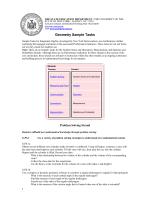 Geometry Sample Tasks - AMAPS.org