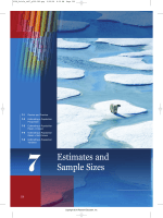 Estimates and Sample Sizes