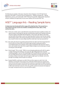 HiSET™ Language Arts – Reading Sample Items - ETS