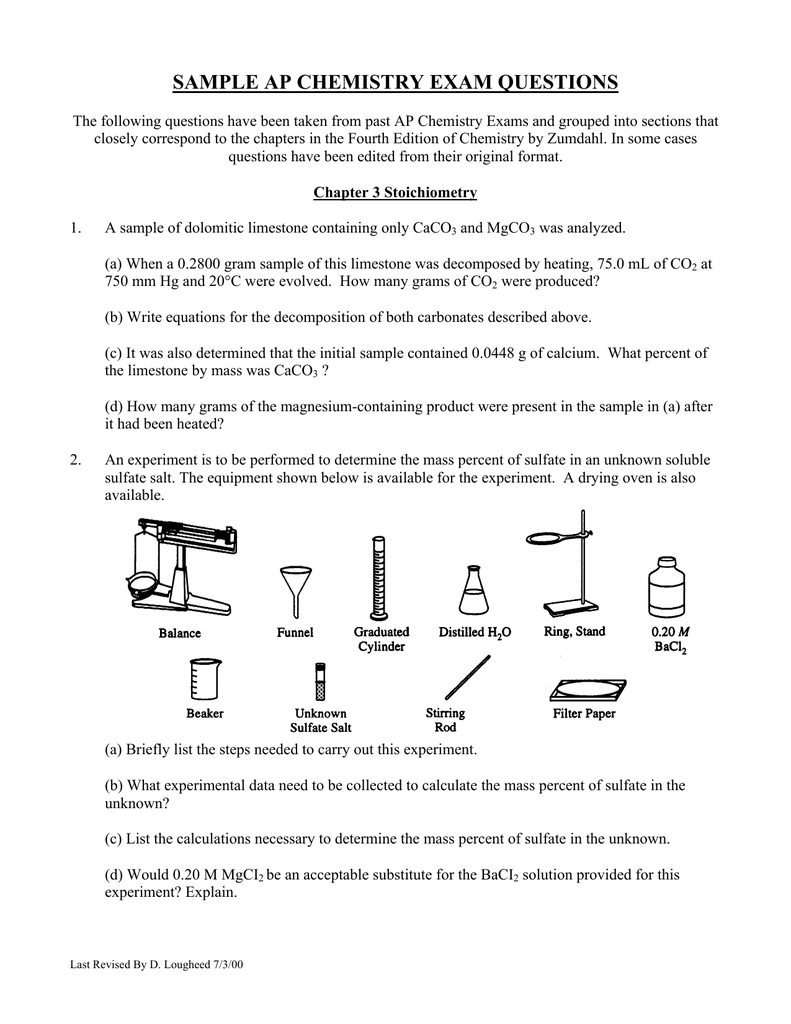 ap chemistry free response answers essay Answers must be written out in paragraph form outlines, bulleted lists, or diagrams alone are not acceptable ap biology 2016 free-response questions author: ets.