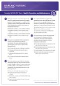Sample NCLEX-RN®* Quiz: Health Promotion and Maintenance