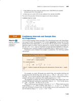 7–4 Confidence Intervals and Sample Size for Proportions