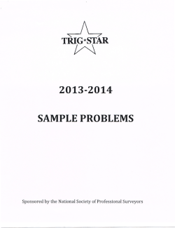 TRIG* STAR 2013-2014 SAMPLE PROBLEMS
