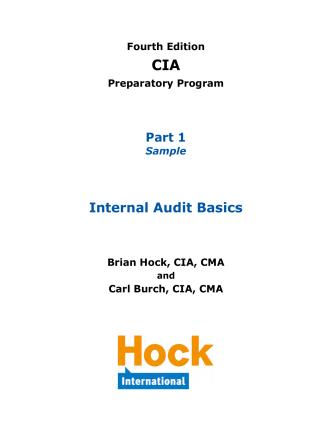 CIA Part 1 Textbook Sample - HOCK international
