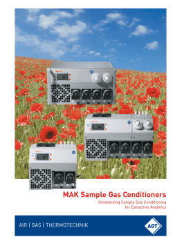 MAK Sample Gas Conditioners - Mechatest Sampling Solutions