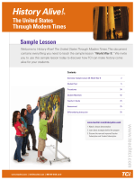 History Alive! The United States Through Modern Times | Sample