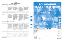 Province of BC Ministry of Education - FSA Grade 7 Sample