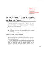 OTHESIS TESTING USING NGLE SAMPLE - Brunswick School