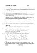 SPH4U Sample Test – Dynamics 1of14
