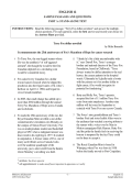 English 12 Sample Passages and Questions - Education