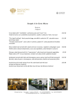 Sample A la Carte Menu - Baglioni Hotels