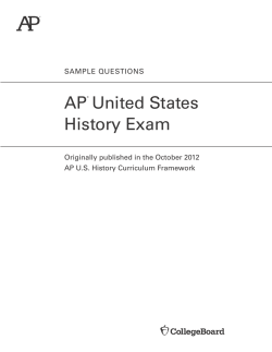 AP U.S. History Sample Questions - The College Board