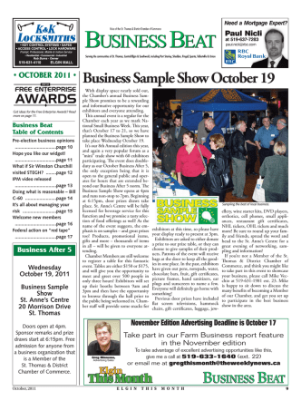 Business Sample Show October 19 - St. Thomas  District Chamber