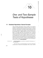 One- and Two-Sample Tests of Hypotheses