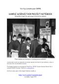 GSDSEF Sample notebk Sept15 - Greater San Diego Science