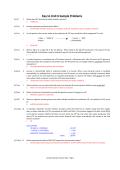 Key to Unit 6 Sample Problems - BIOL 205