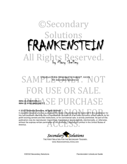 Frankenstein - Secondary Solutions