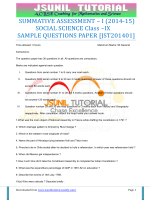 sample paper-1 with solution - Krishna International School