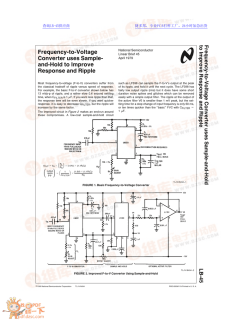Frequency-to-Voltage Converter uses Sample- and-Hold to Improve