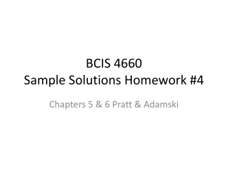 BCIS 4660 Sample Solutions Homework #4