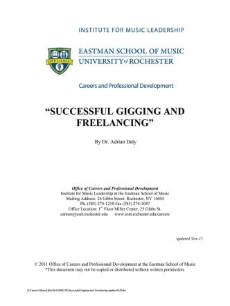 Sample Contract No - Eastman School of Music
