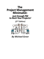 [Sample Pages] The Project Management Minimalist: Just Enough