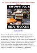 160 Vintage Drum Machines Oldschool Beatboxes Wav Sample