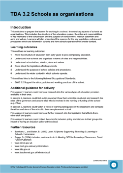 Level 3 Diploma Supporting Teaching and - Pearson Schools