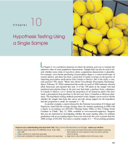 Hypothesis Testing Using a Single Sample - eBooks
