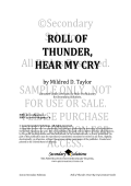 roll of thunder, hear my cry - Secondary Solutions