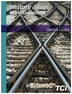 History Alive! World Connections | Sample Chapter | Social - TCI