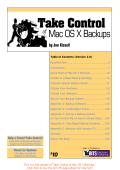 Take Control of Mac OS X Backups SAMPLE
