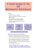 sample of questions and answers. - MathsWatch