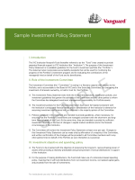 Sample Investment Policy Statement - Vanguard