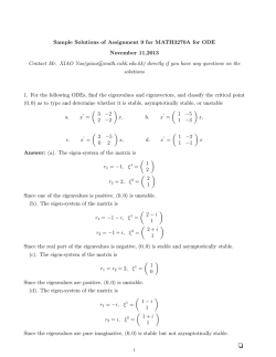 Sample Solutions of Assignment 9 for MATH3270A for ODE