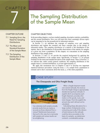 7 The Sampling Distribution of the Sample Mean - E-Books