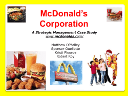 McDonalds Final PowerPoint