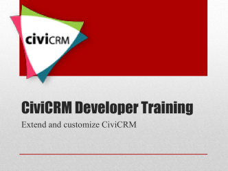 CiviCRM Developer Training