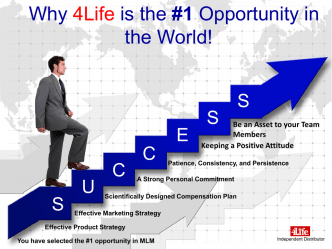 4Life Research was found to be the #1 opportunity in the world!