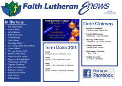 Newsletter - Faith Lutheran College