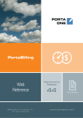 PortaBilling: Web Reference Guide MR44 - PortaOne
