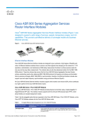 Cisco ASR 900 Series Aggregation Services Router Interface