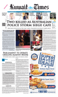 TwO KILLEd AS AUSTRALIAN POLICE STORM - Kuwait Times