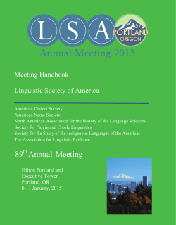 here - Linguistic Society of America