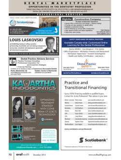 Practice and Transitional Financing - Oral Health Journal