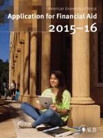 Application for Financial Aid - American University of Beirut