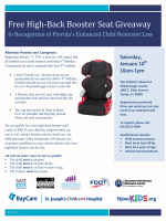 Free High-Back Booster Seat Giveaway - Children's Board Family