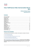 Cisco TelePresence Video Communication Server Release Note