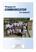 2014 Comminicator Vol.8 - Kingsgrove High School