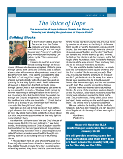 The Voice of Hope - Hope Evangelical Lutheran Church